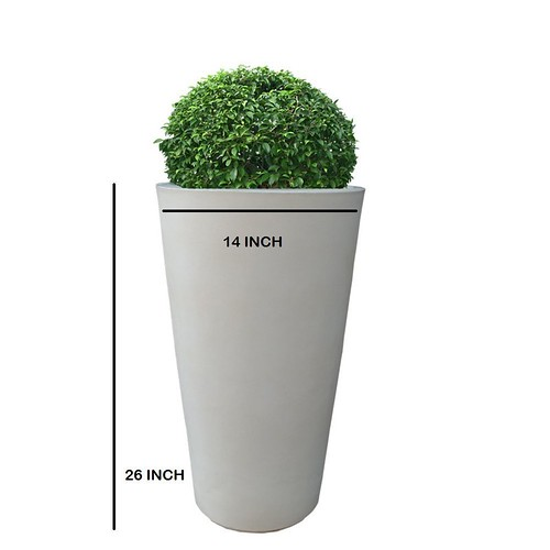 tall lightweight fiber planter