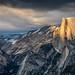 Last Light on Half Dome by Kirk Lougheed