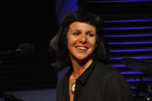 Helen Gillet at WWOZ on Day 4 of French Quarter Fest - 4.15.18. Photo by Leona Strassberg Steiner.