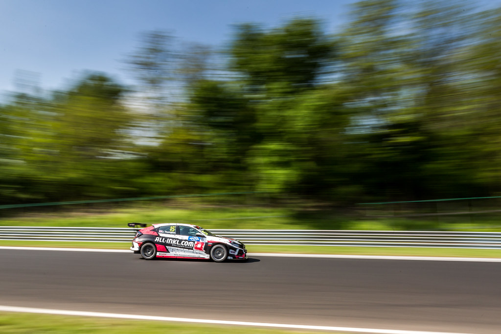 15 THOMPSON James (GBR), ALL-INKL.COM Munnich Motorsport, Honda Civic TCR, action during the 2018 FIA WTCR World Touring Car cup, Race of Hungary at hungaroring, Budapest from april 27 to 29 - Photo Thomas Fenetre / DPPI