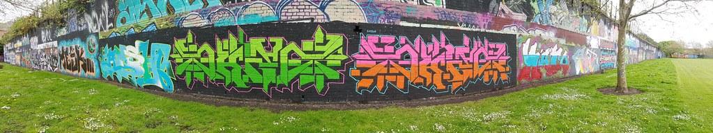 Sevenoaks Park, Cardiff street art/graffiti