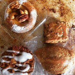went a little krazy at guru guru bakery❤︎ ・ ・ ・ #グルグルベーカリー #千鳥町 #東京 #パン #ミートグラタンパイ #サクサクアプリ #キャラメルナッツデニッシュ #チョコくるみスコーン #gurugurubakery #chidoricho #tokyo #japan #bread #bakery