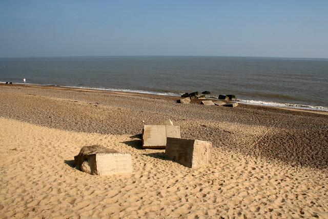 The beach near Sizewell