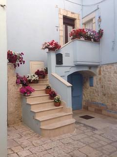 Balcone fiorito a Casamassima