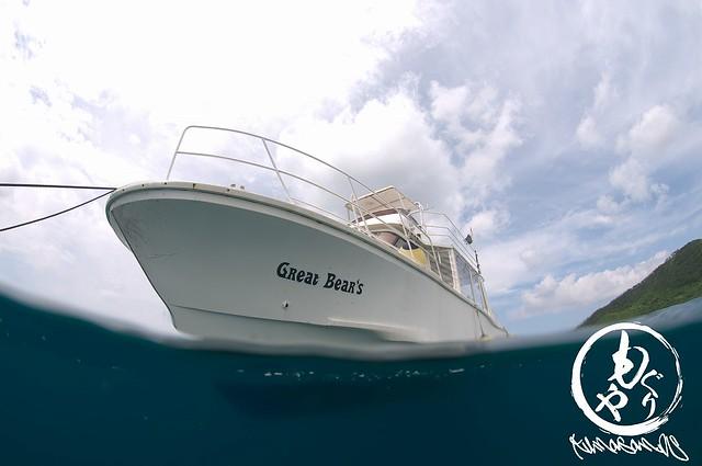 水中から見てもステキなグレベア号♪