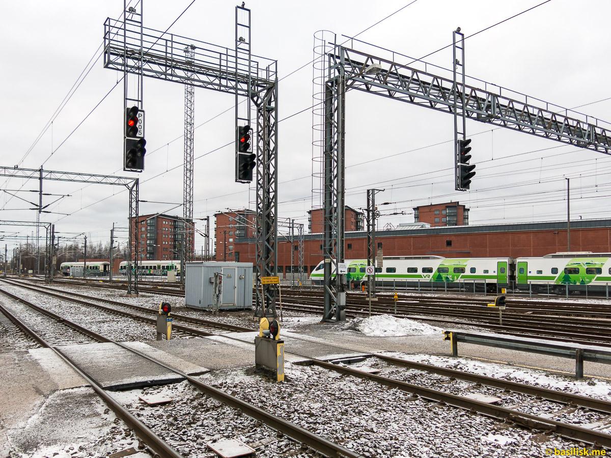 Железнодорожный вокзал и станция Турку. Turku Rautatieasema. Январь 2018
