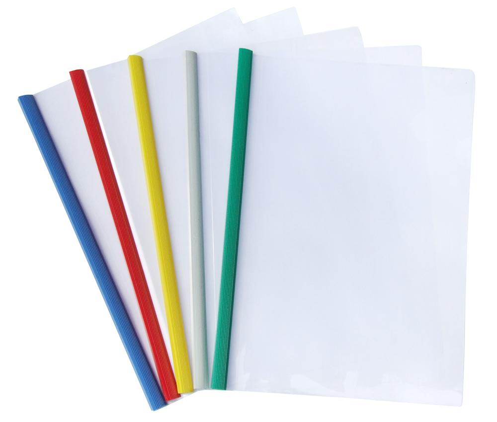 A4 Slide Binding Binder Strip Clear Cover 12 Pack Au Stock