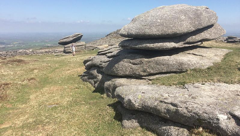 Belstone Tor logan stones