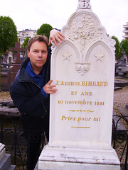 Ian Ayres @ Arthur Rimbaud's grave                (Charleville, France)