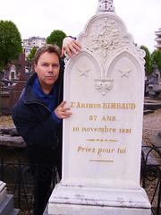 Ian Ayres @ Arthur Rimbaud's grave                (Charleville, France)