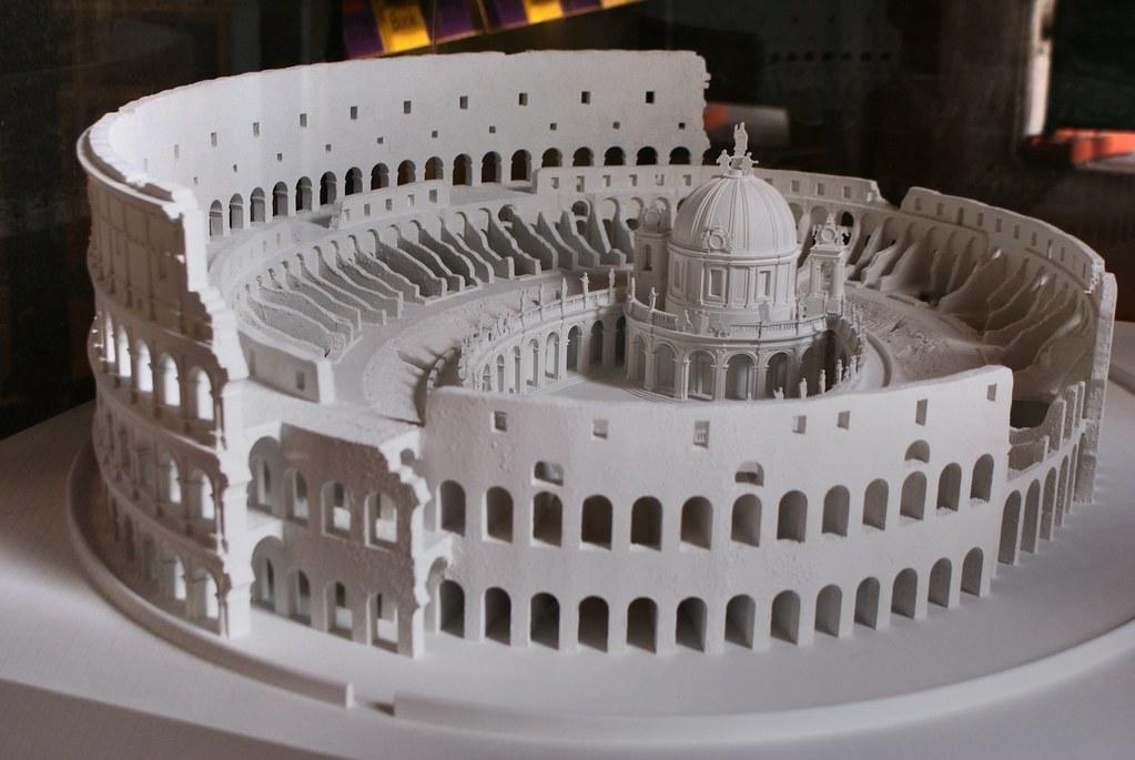 Projet de construction d'une église baroque dans le Colisée à Rome - Photo de Carlo Fontana