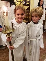 Everett's First Day Altar Serving