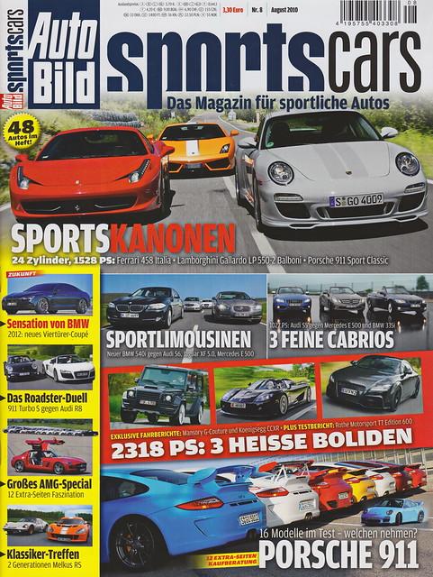 Auto Bild Sportscars 8/2010