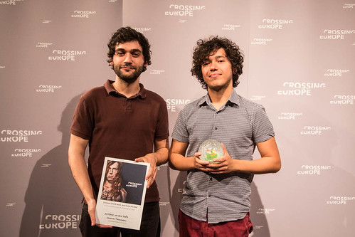 CE18 - awards ceremony // Mauro Soares, Leonardo Mouramateus (Main Award Winner – Best Fiction Film) // photo © Christoph Thorwartl // subtext.at