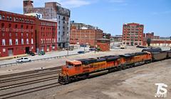 1/9 BNSF 9258 Leads SB Empty Coal Drag Kansas City, MO 4-29-18