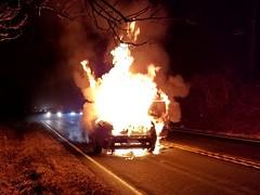 Car fire, February 7, 2018