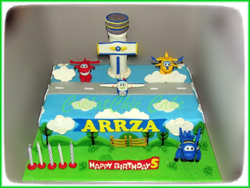 Cake Super Wings ARRZA 20x30 cm