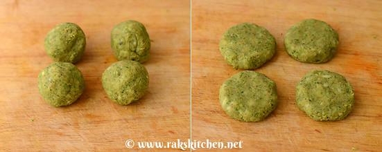 Broccoli sweet potato tikki step 6