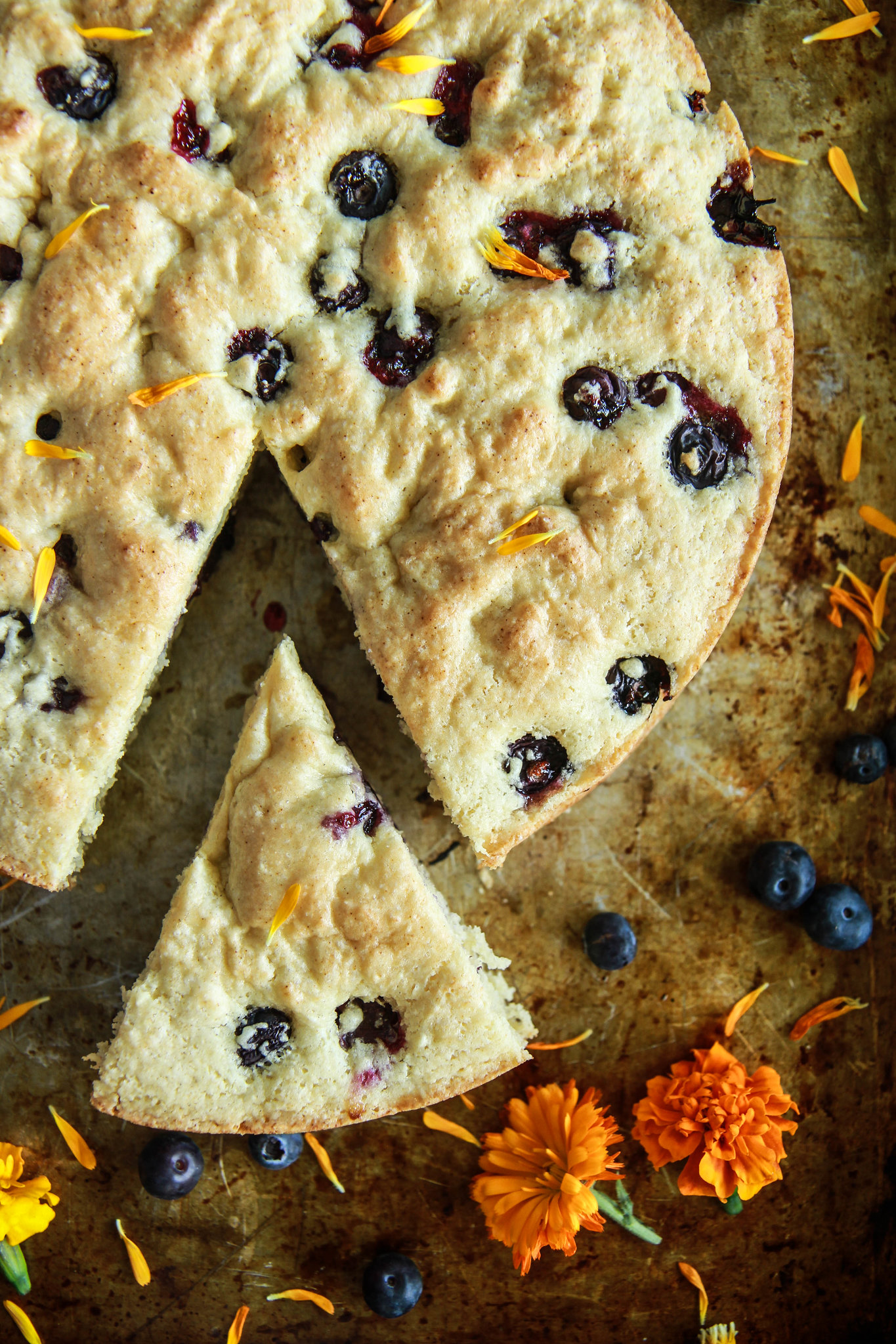 "Blueberry Ginger ""Buttermilk"" Cake- Vegan and Gluten Free from HeatherChristo.com"