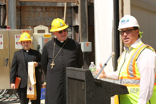 Cardinal Dolan visits bypass tunnel