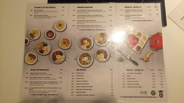 Nuro men menu