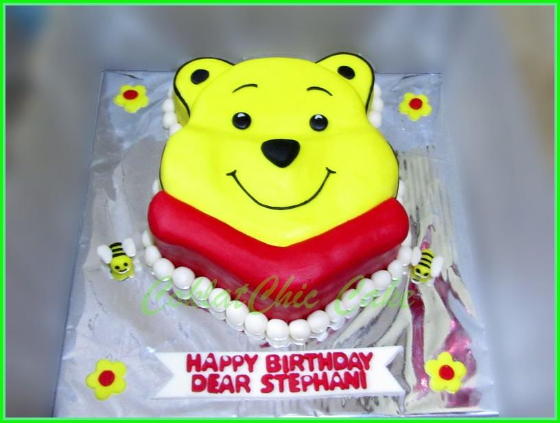 Cake Pooh Bear STEPHANI 18 cm