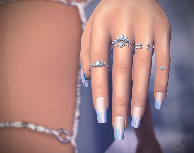 Pastel Ombre French Nails