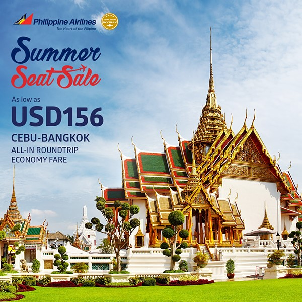 Philippine Airlines Summer Seat Sale Cebu to Bangkok