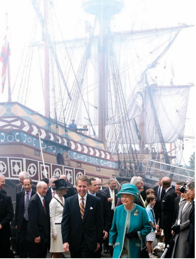 Her Majesty Queen Elizabeth II and His Royal Highness, The Prince Philip, Duke of Edinburgh, visit Jamestown Settlement on May 4, 2007, as part of a two-day visit to Virginia.