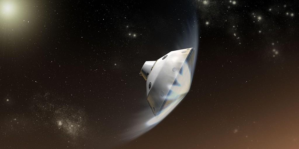 Le bouclier thermique de l'atterrisseur Mars 2020 s'est fissuré lors des essais
