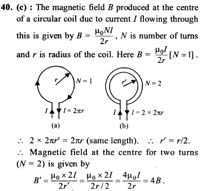 NEET AIPMT Physics Chapter Wise Solutions - Moving Charges and Magnetism explanation 40