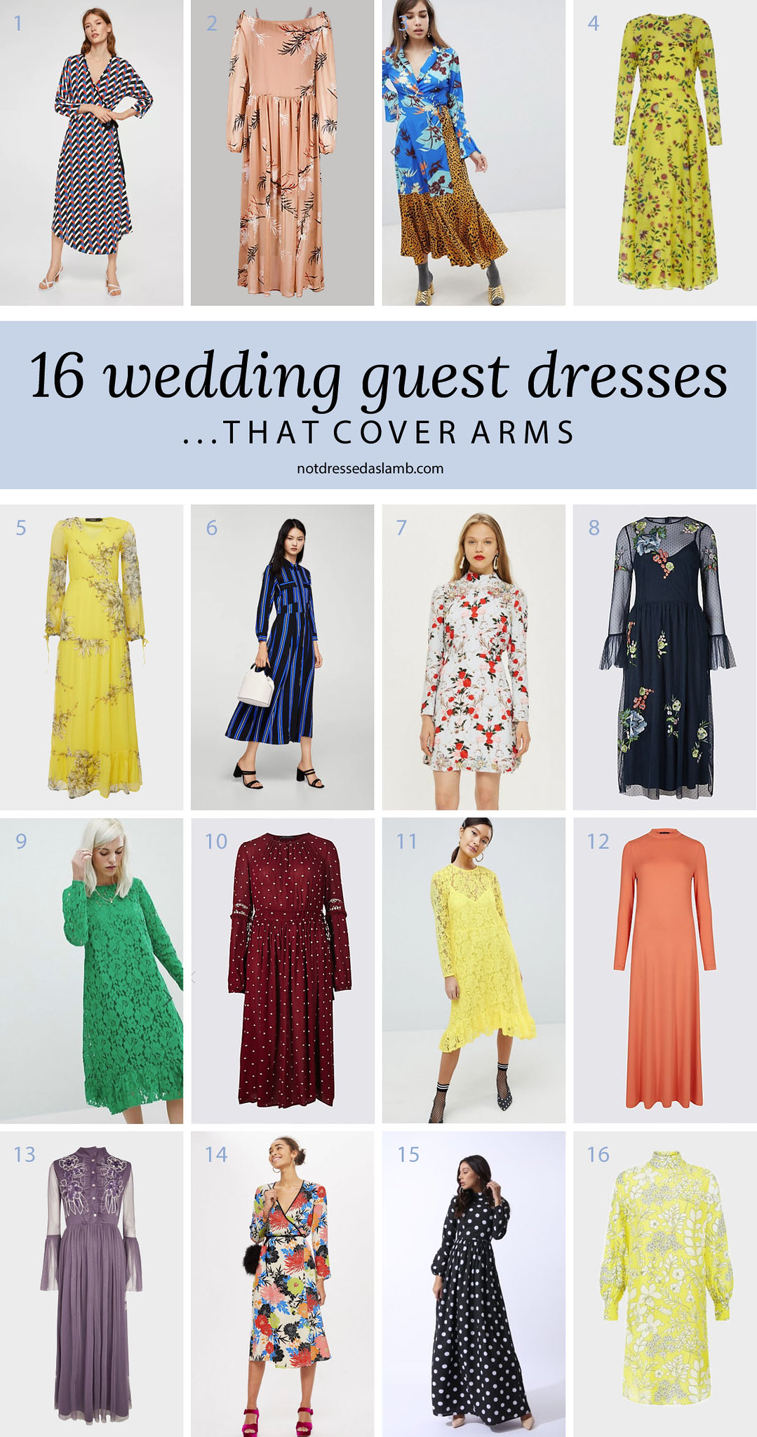 What to Wear to a Summer Wedding for All Shapes & Sizes: 16 Wedding Guest Dresses That Cover Arms - Not Dressed As Lamb