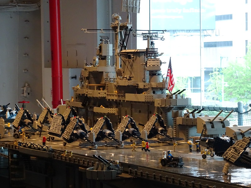 Lego model, Intrepid Air, Sea, Space Museum, New York City