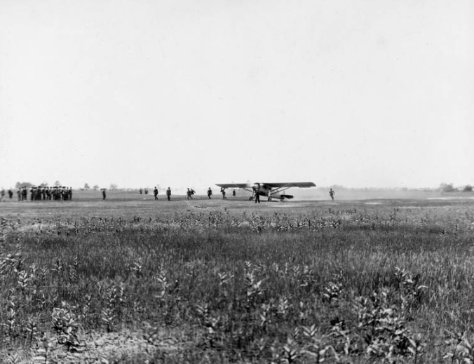 The purpose-built Ryan monoplane Spirit of St. Louis, piloted by Charles Augustus Lindbergh, took off from Roosevelt Airfield on Long Island, New York, at 7:52 AM, Friday, May 20, 1927.