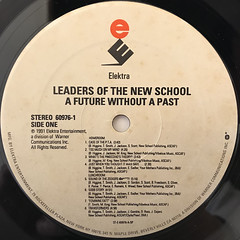 LEADERS OF NEWSCHOOL:A FUTURE WITHOUT A PAST...(LABEL SIDE-A)