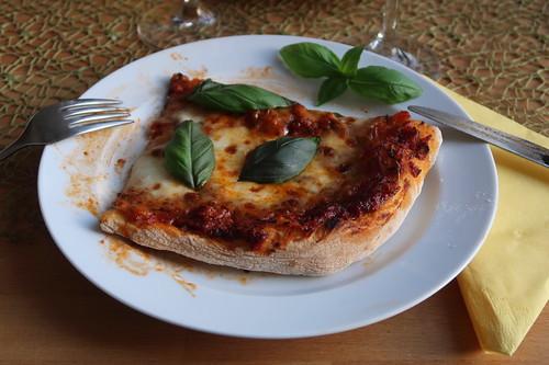 Pizza Margherita (mein 2. Viertel)