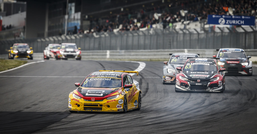 09 CORONEL Tom (NLD), Boutsen Ginion Racing, Honda Civic TCR, action during the 2018 FIA WTCR World Touring Car cup of Nurburgring, Nordschleife, Germany from May 10 to 12 - Photo Francois Flamand / DPPI