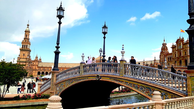 Plaza Espana, bridge and tower - what to see in Seville Spain in one day