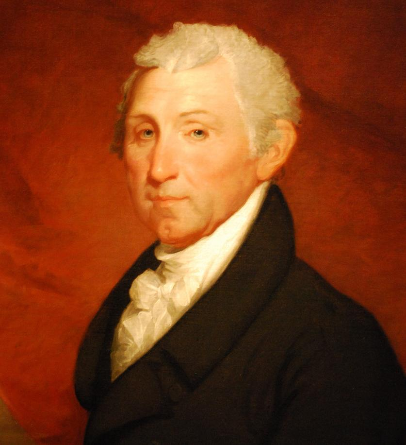 Portrait of U.S. President James Monroe who took an excursion aboard Savannah shortly before her historic voyage.