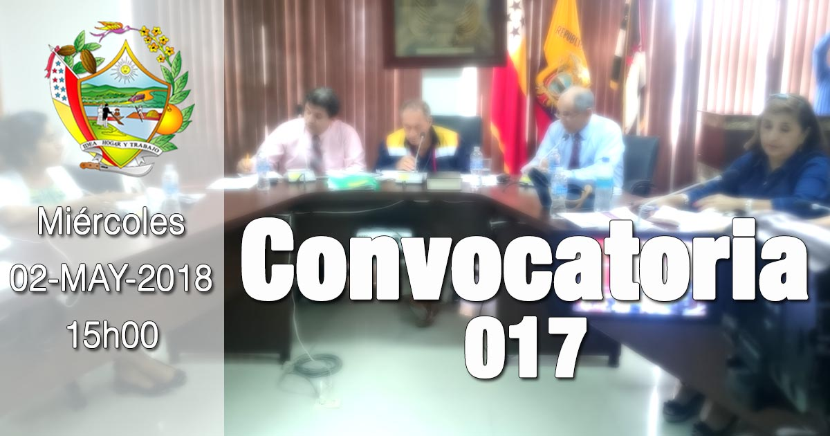 Convocatoria 017