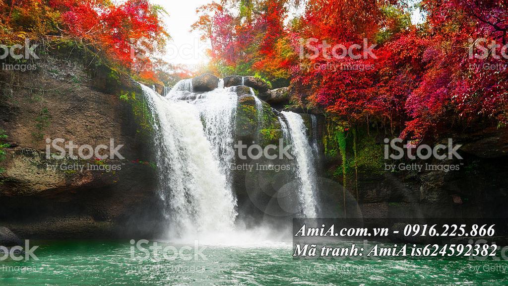 Hình ảnh tranh thác nước đổ đẹp nhất AmiA
