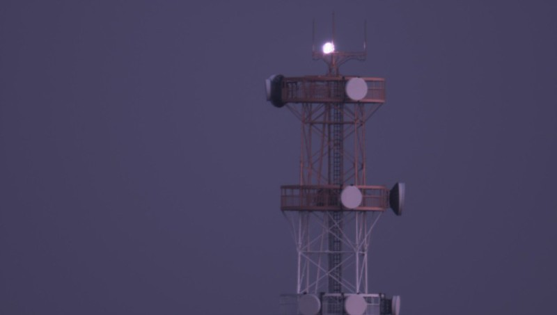 直焦点で撮った鉄塔