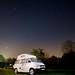 T4 campervan under a starry sky.