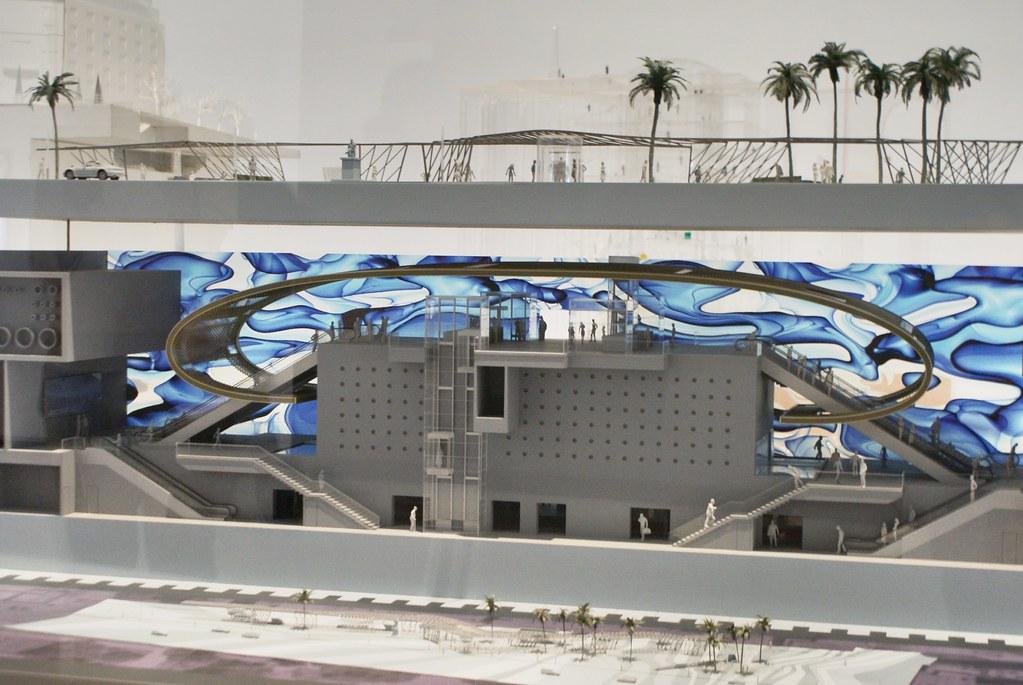 Maquette d'une des nouvelles stations de métro de Naples.
