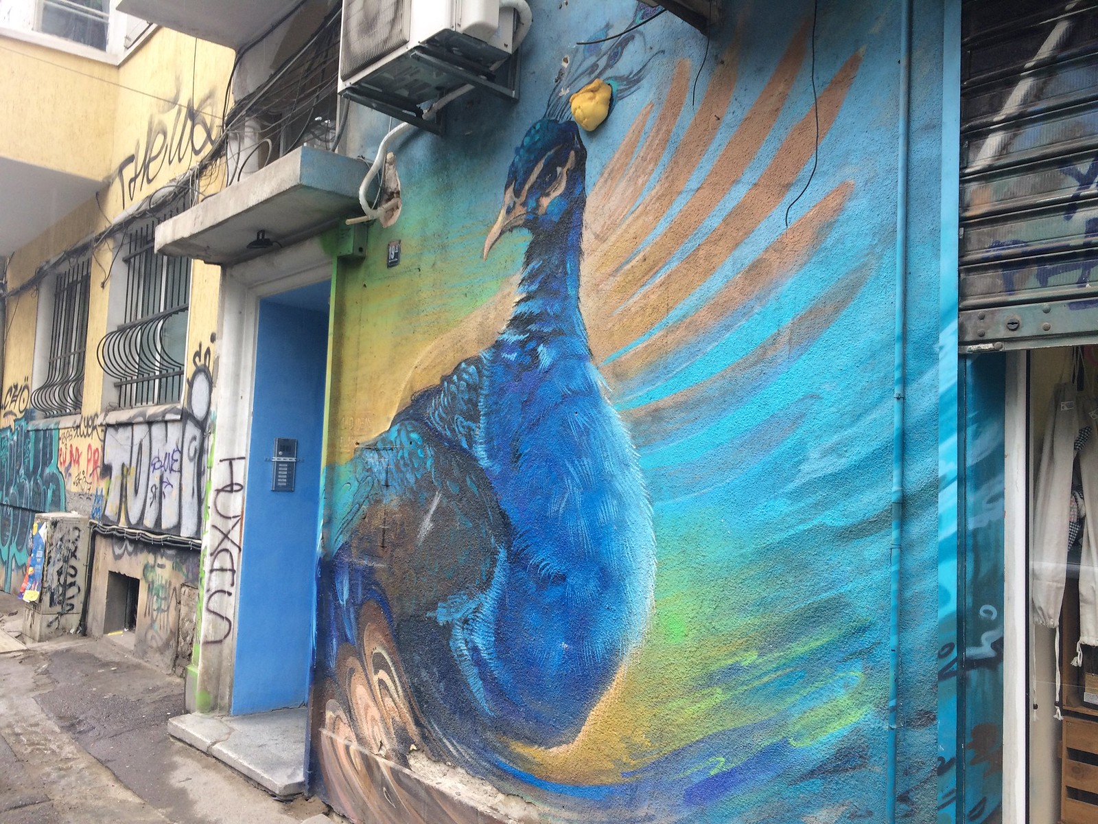 201705 - Balkans - Peacock Graffiti - Sofia - Oborishte - Sofia, May 21, 2017