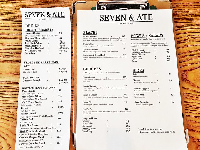Seven & Ate Menu - Lunch