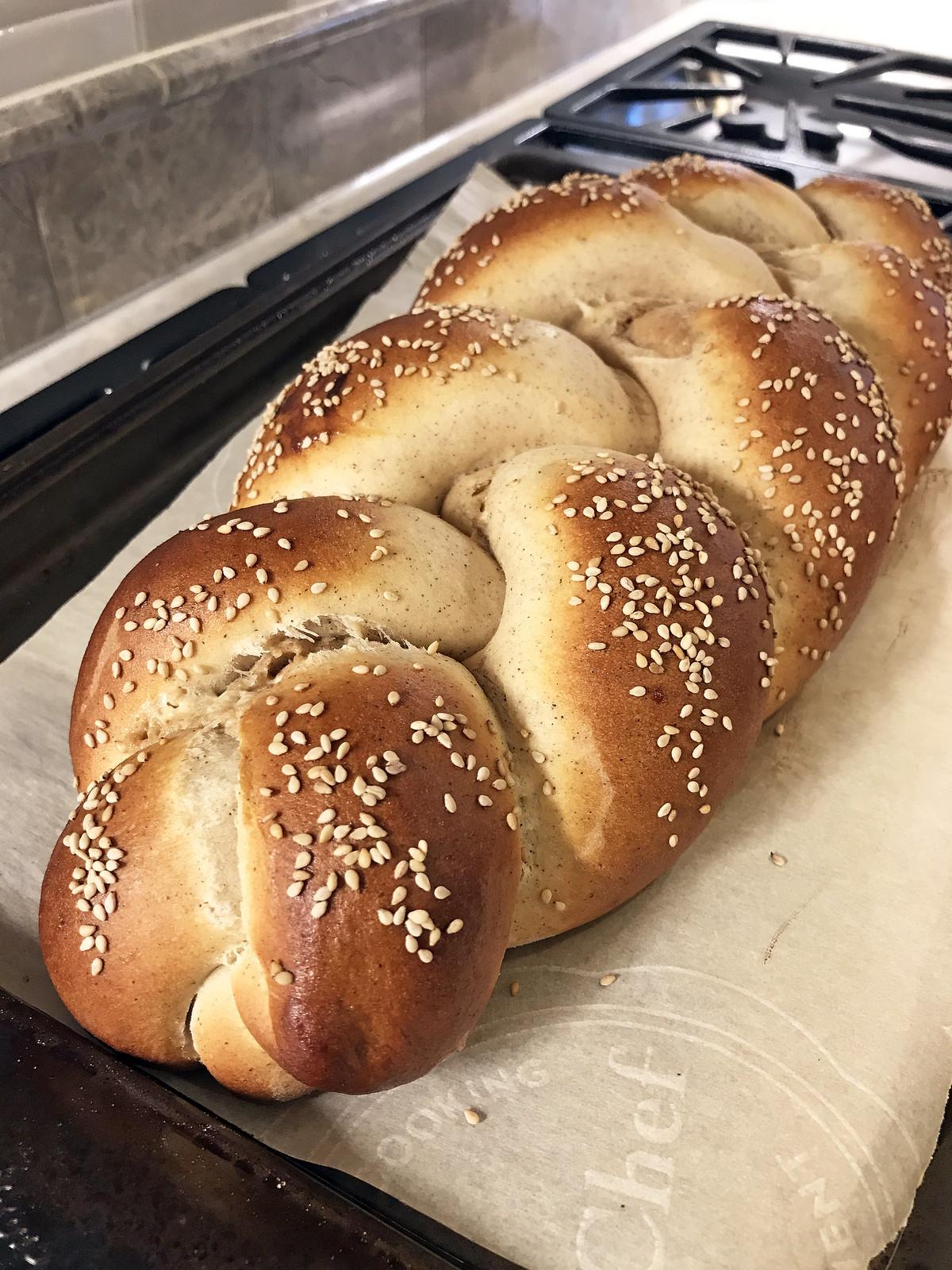 Halvah-stuffed challah