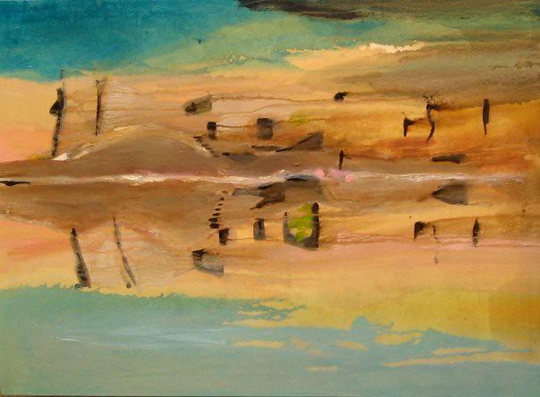 Vent de sable - 73x100 cm. Oil on canvas 2007