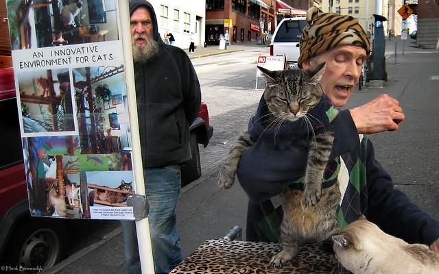 Seattle: cat man, Canon DIGITAL IXUS 850 IS