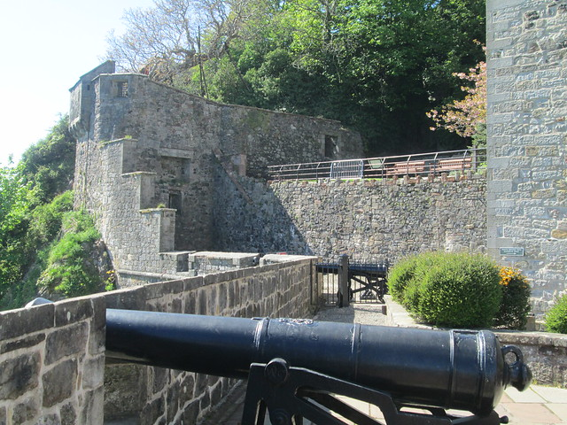 Guns at Dumbarton Castle, Scotland